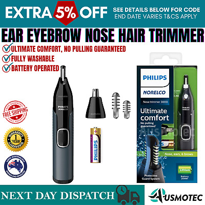 AU38.96 • Buy PHILIPS Mens Nose Ear Eyebrow Hair Trimmer Shaver Lithium Cordless Grooming Kit