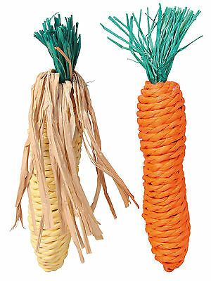 £5.49 • Buy Set Of Straw Chewing Toys Hamster Rat Rabbit Corn & Carrot Chew Toy