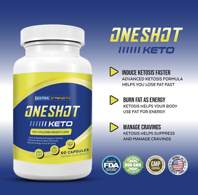 $10.25 • Buy One Shot Keto Diet Pill, Advanced Weight Loss Metabolic Support 60 Pills