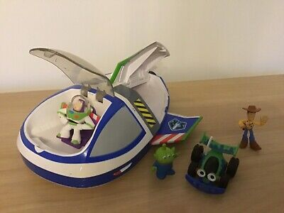 Toy Story Vintage Rare Buzz Lightyear Star Command Spaceship With Buddy Figures • 18£