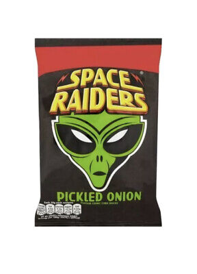 £12.99 • Buy Full Box ~ PICKLED ONION ~ Space Raiders Snacks ~ 36 X 25g Bags ~ Factory Sealed
