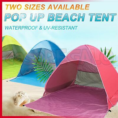 AU31.45 • Buy Pop Up Beach Tent Canopy UV Camping Fishing Mesh Sun Shade Shelter 4 Persons