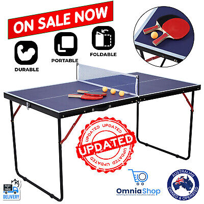 AU81.97 • Buy SALE Portable Table Tennis Table Play Post Indoor Outdoor Net Bat Ball Activity