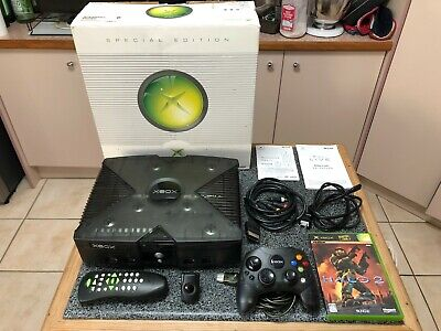 AU450 • Buy Original XBOX Skeleton Smoke Black Clear Console Bundle - NTSC-J Japanese V1.0