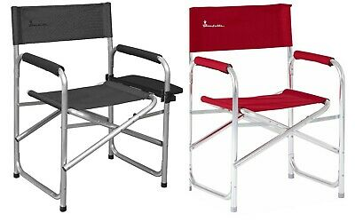 £49.99 • Buy Isabella Lightweight Aluminium Folding Directors Chair With Side Table