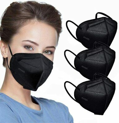 $21.98 • Buy 50 / 100 Black KF94 Disposable Face Mask Non Medical 4 Layer Earloop K N95 Cover