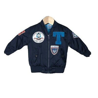 £13.08 • Buy Thomas Tank Engine And Friends Baby Boy Jacket Full Zip Varsity Patches Blue 18M