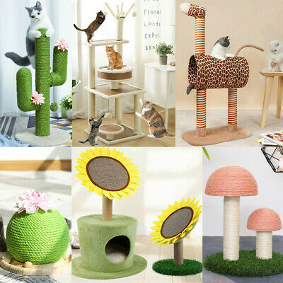 AU36.89 • Buy Cat Supplies Tree Scratching Post Scratcher Tower Condo House Furniture Bed Stan