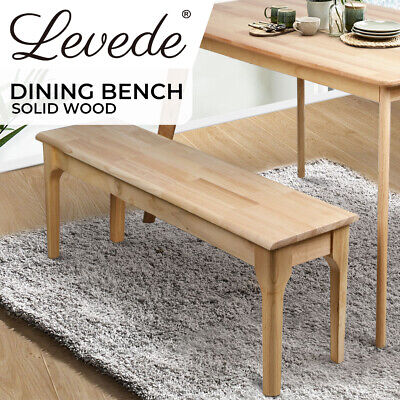 AU109.99 • Buy Levede Dining Chairs Bench Chair Seat Wooden Kitchen Outdoor Garden Patio Chair