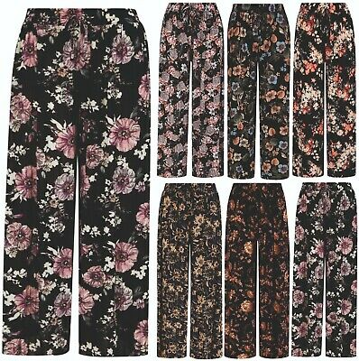 £7.95 • Buy Womens Ladies Harem Trousers Palazzo Spring Summer Loose Fit Easy Care Comfort
