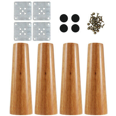 AU25.99 • Buy 4 PCS Wooden Furniture Legs + Pads Turned Feet Lounge Couch Sofa Cabinet Raw