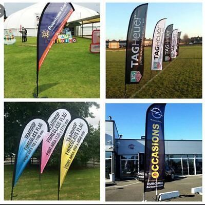 Custom Feather Flags Portable Teardrop Flag Kit £55 Free Bases & Free Delivery   • 99£