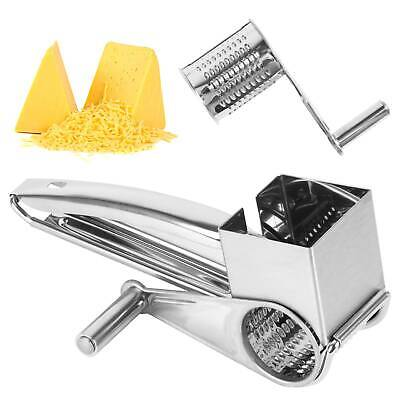 £7.69 • Buy Kitchen Tool Rotary Stainless Steel Blades Slicer Chocolate Carrot Cheese Grater