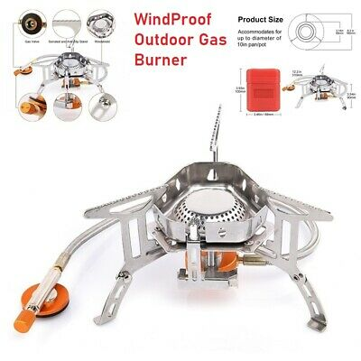 £18.69 • Buy Windproof Outdoor Camping Stove Lighter Gas Burner Equipment Kitchen Grill