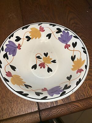 $24.99 • Buy Societe Ceramique Maastricht Serving Bowl Hand Painted Holland Floral Pattern