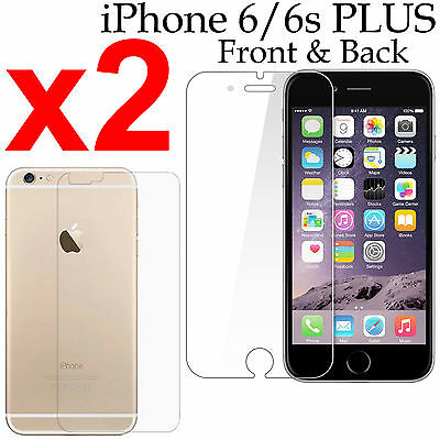 AU4.99 • Buy X2 Soft PET Film Screen Protector For Apple Iphone 6 6s PLUS Front And Back