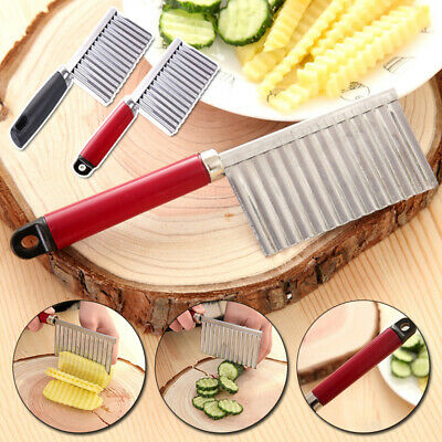 £2.90 • Buy Stainless Steel Cutter Kitchen Crinkle Cutting Tools For Vegetable Fruit Slicer