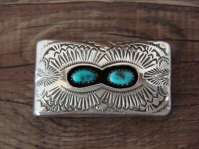 £38.79 • Buy Navajo Indian Jewelry Sterling Silver Turquoise Money Clip - Skeets