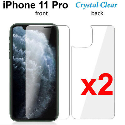 AU5.50 • Buy X2 Soft 4H PET Film Screen Protector For Apple Iphone 11 PRO Front And Back