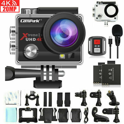 AU85.39 • Buy Campark ACT74 Sport Action Camera 4K 20MP WiFi Waterproof LCD Camcorder As GoPro