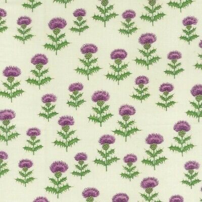 £7.25 • Buy Fabric Thistle Flower Scottish By Nutex 100% Cotton 112cm Wide #11400 Cream