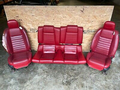 $950 • Buy 2005 Mustang GT 4.6L OEM Complete Set Of Red Leather Seats - READ NOTES