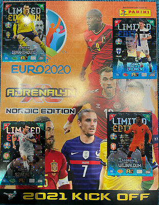 £32.99 • Buy Limited Edition Euro 2021 Kick Off Adrenalyn XL Panini Cards