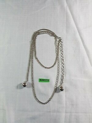 £5 • Buy Chunky Belly Body Chain With Ball Pendant Necklace Adjustable Silver Tone
