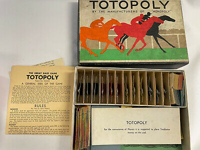 £25 • Buy Vintage 1930's Totopoly Horse Racing Board Game Boxed With Original Board