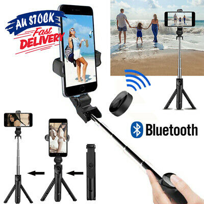 AU13.35 • Buy 360° Rotating Selfie Stick Tripod With Bluetooth Remote For Mobile Phone