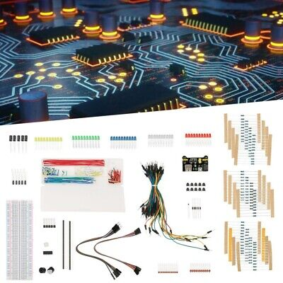 Electronic Component Starter Kit Breadboard Solderless Jumper Wire LED Resisitor • 11.18£