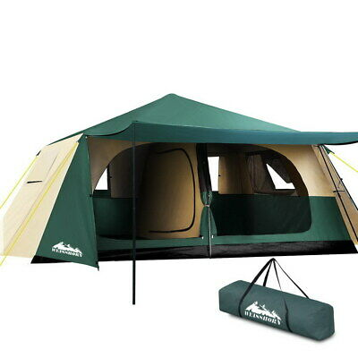 AU282.64 • Buy Weisshorn Instant Up Camping Tent 8 Person Pop Up Tents Family Hiking Dome Camp