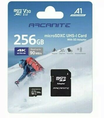 ARCANITE 256GB MicroSD XC Memory Card BRAND NEW SEALED! DASH CAM Micro Sd Memory • 15.99£
