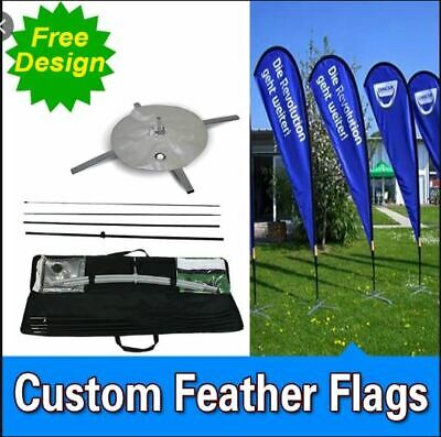 Custom Flags £55 Free Poles Bases & Delivery- Customised Banner Flags • 99£