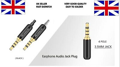 £2.79 • Buy 2pc Aluminum 3.5mm Jack 4Pole Gold-plated Earphone Headset Replace Solder Home