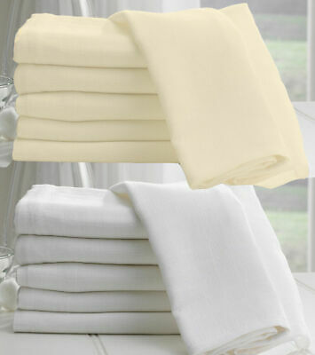 £3.60 • Buy 100% Egyptian Cotton Muslin Fabric White/Ivory/Cream Soft Craft Material 150cm
