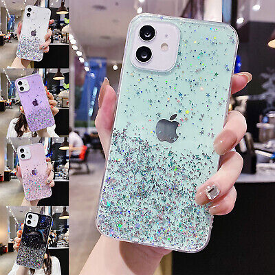 AU7.99 • Buy For IPhone 12 11 Pro Max XS XR 8 7 6s Glitter Bling Shockproof TPU Clear Case