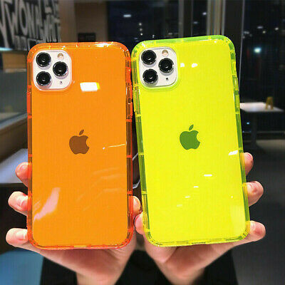 AU7.89 • Buy For IPhone 11 Pro Max 12 XS XR 8 7 Plus Neon Fluorescent Clear TPU Case Cover