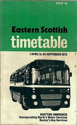 £7.75 • Buy Eastern Scottish Timetable Book April To September 1973 Inc Starks & Baxters
