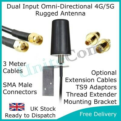 £73.95 • Buy 5G 4G LTE MiMo Outdoor Booster Antenna SMA TS9 External Huawei TPLink Vehicle