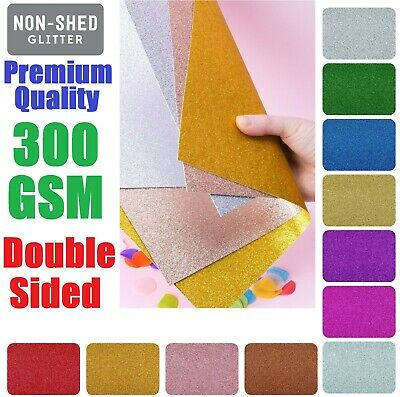 £4.89 • Buy A4 Double Sided Glitter Card Premium Quality Low Non Shed 300gsm Crafts Coloured
