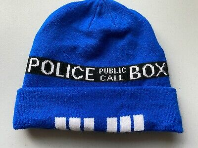 DOCTOR WHO TARDIS Police Call Box Beanie Knit Hat Cap BBC TV Series Cosplay  • 6.51£