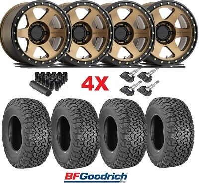$1721.52 • Buy 17 Bronze Wheels Rims Tires 265 65 17 Bfgoodrich Ko2 Method Fuel Rhino Xd 6 Lug