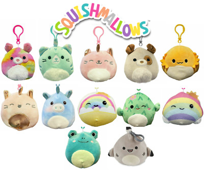 AU18.90 • Buy 1x SQUISHMALLOWS Squishy 9cm 3.5  Plush Assorted You Choose Clip On Clip-on NEW