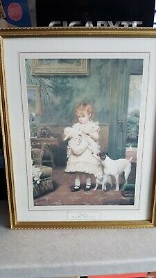 £14.95 • Buy Painting - Puppy Love Picture By Charles Burton Barber (1836-1983)