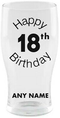 £9.95 • Buy Personalised 18th Pint Beer Glass - ANY NAME - 🎂 Birthday Gift 🎂 Present 18🍺
