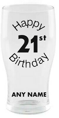 £8.95 • Buy Personalised 21st Pint Beer Glass - ANY NAME - 🎂 Birthday Gift 🎂 Present 21 ✅