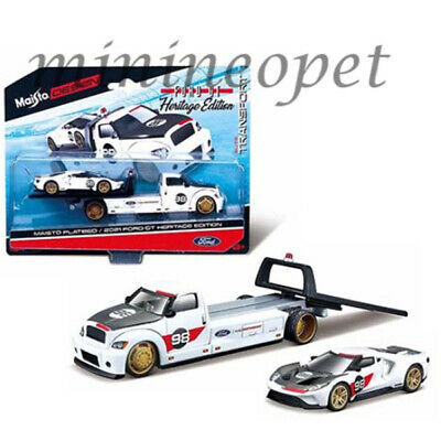 $9.90 • Buy Maisto 15108 21a Elite Transport Heritage 2021 Ford Gt  & Flatbed #98 1/64 White