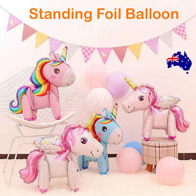 AU5.99 • Buy 60cm  Foil Unicorn Balloon Birthday Party Baby Shower Decorations Au Stock