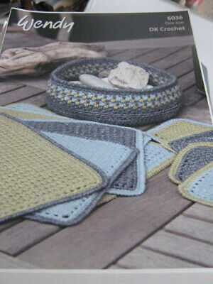 £1.99 • Buy New- Wendy Pattern No 6036 Crochet Mats And Coaster In Crunch Stitch  For Dk Yar